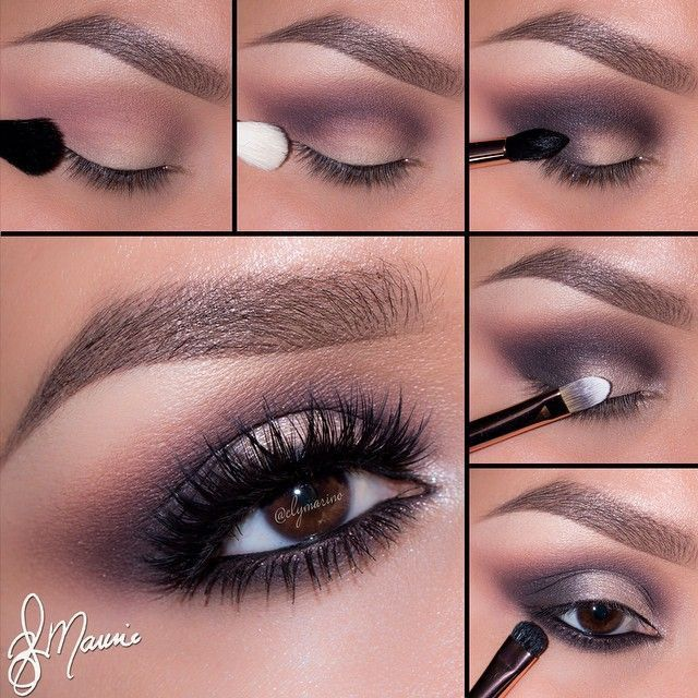 Step by step eye makeup – PICS. Eva Tornado's collection