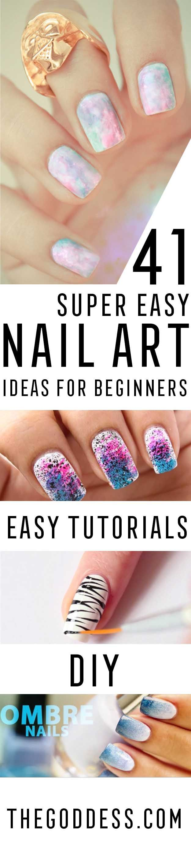 Super Easy Nail Art Ideas for Beginners - Simple Step By Step DIY Tutorials And ...