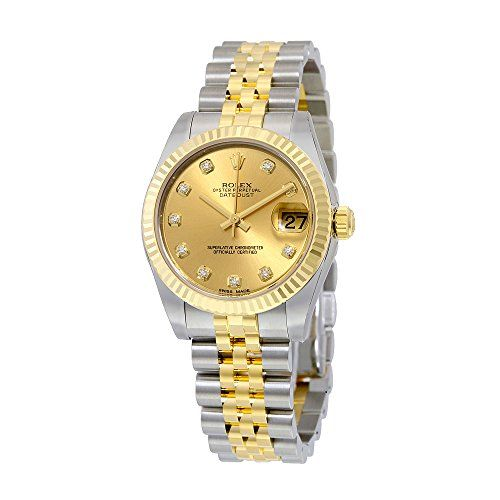 Rolex Datejust Lady 31 Champagne Dial Stainless Steel and 18K Yellow Gold Rolex ...