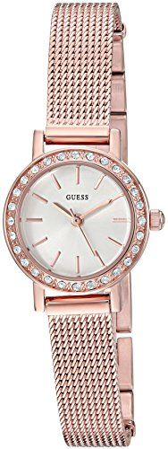 GUESS Women's Quartz Stainless Steel Casual Watch, Color:Rose Gold-Toned (Mo...