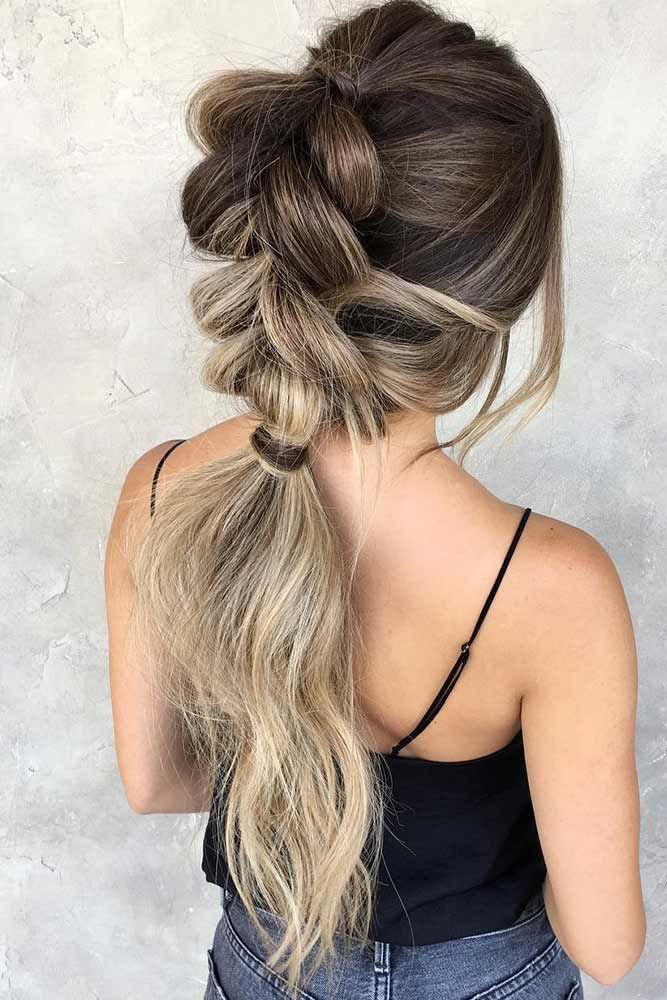 Hairstyles for Blonde Ombre Ponytail #blondehair #brunette #ombre #ponytail ❤...