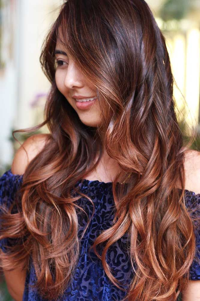 Chestnut Hair Color With Face-Framing Balayage #brownhair #brunette #balayage ...