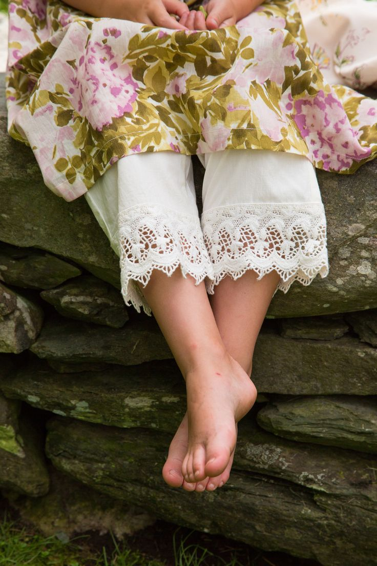 A nod to a sweeter and simpler time, made for today. Josette Girls Pantaloon. Ap...