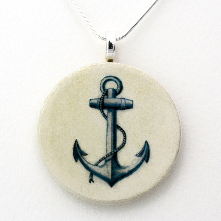 Anchor Necklace by retropage