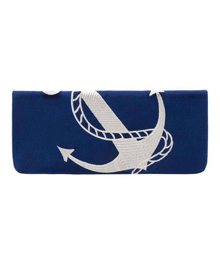 Anchor Silk Clutch