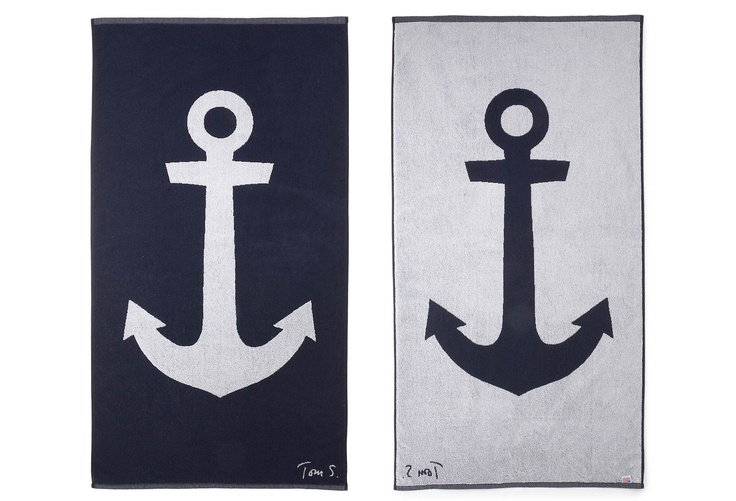 Anchor beach towels......thinking about changing bathroom decor and I actually f...