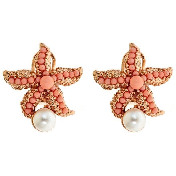 Atlantic Earrings in Coral