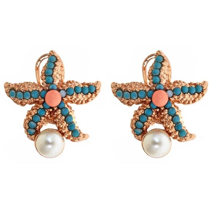 Atlantic Earrings in Turquoise