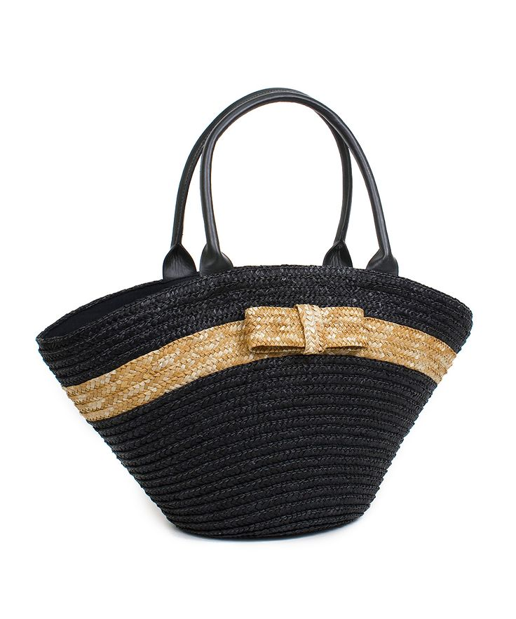Bow Straw Tote