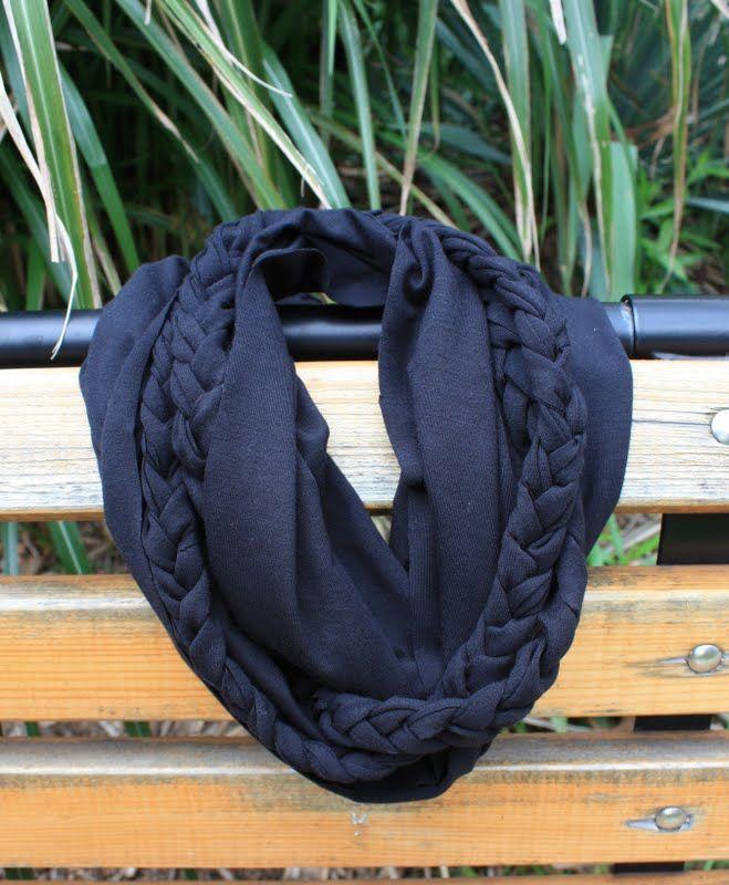 DIY braided infinity scarf