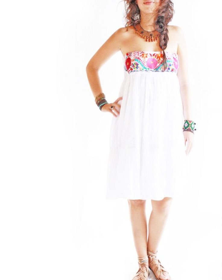 Handmade Mexican embroidered dresses and vintage treasures from Aida Coronado Me...