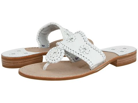 Jack Rogers Palm Beach Navajo Flat white/white. Love these. Used to wear many di...