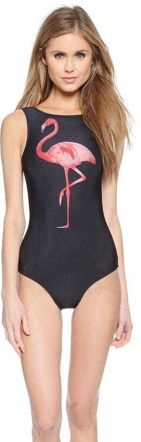 Jo de Mer Flamingo Pop Logo Maillot
