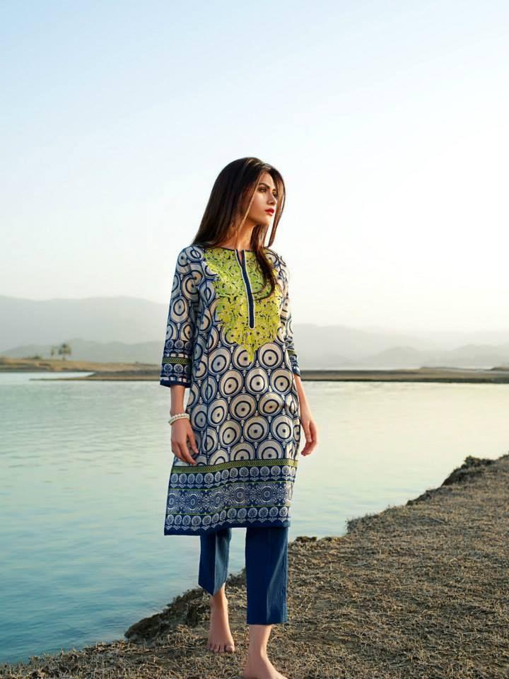 Khaadi Spring Wear Lawn Collection 2017 www.fashioncluba....