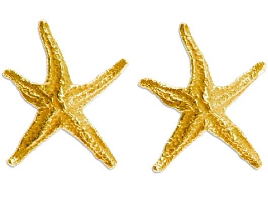KiraKira Gold Starlette Earrings