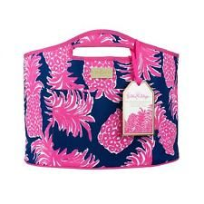 Details about NWT Lilly Pulitzer Insulated Beach Bag, Cooler, Beverage Bucket Hot Pink & Green