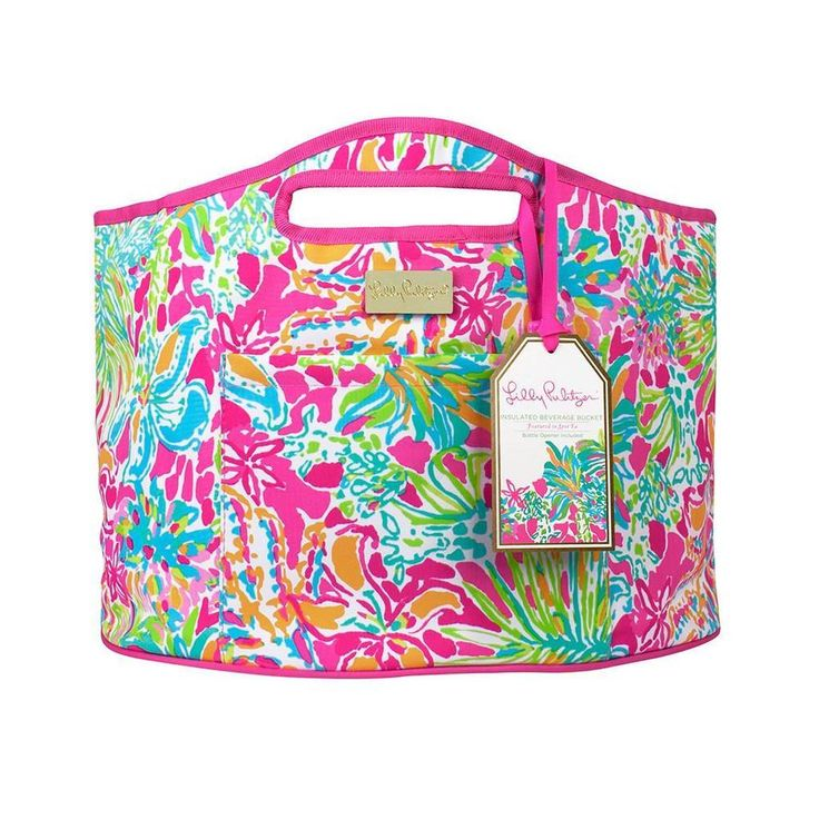 Lilly PULITZER Spot Ya LG Beverage Bucket Insulated beach Cooler tote  | eBay