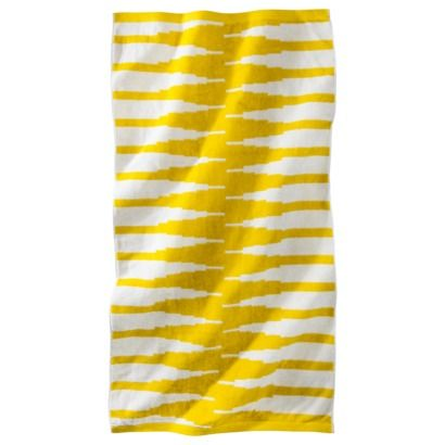 Nate Berkus; Topanga Beach Towel - YellowWhite $17.99 #target yellow and white p...