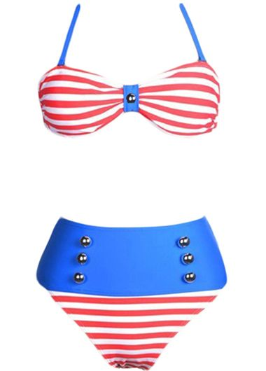 Red Stripes Bikini