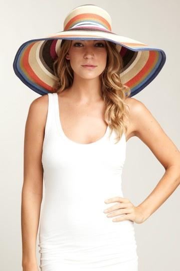 San Diego Hat Company Stripe Sun Hat