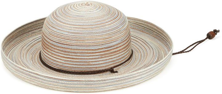 San Diego Hat Company Women's Mixed Braid Kettle Brim Hat