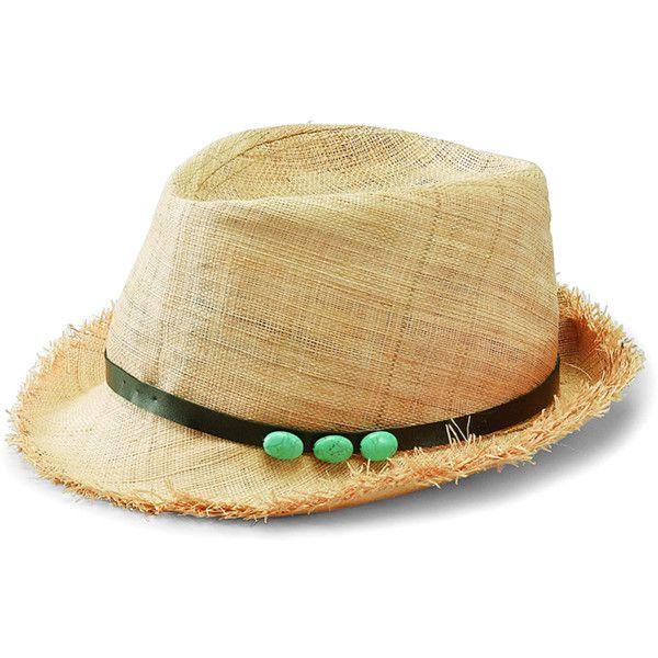 San Diego Hat Company Women's Raffia Fedora (352786001) ($55) ❤ liked on P...