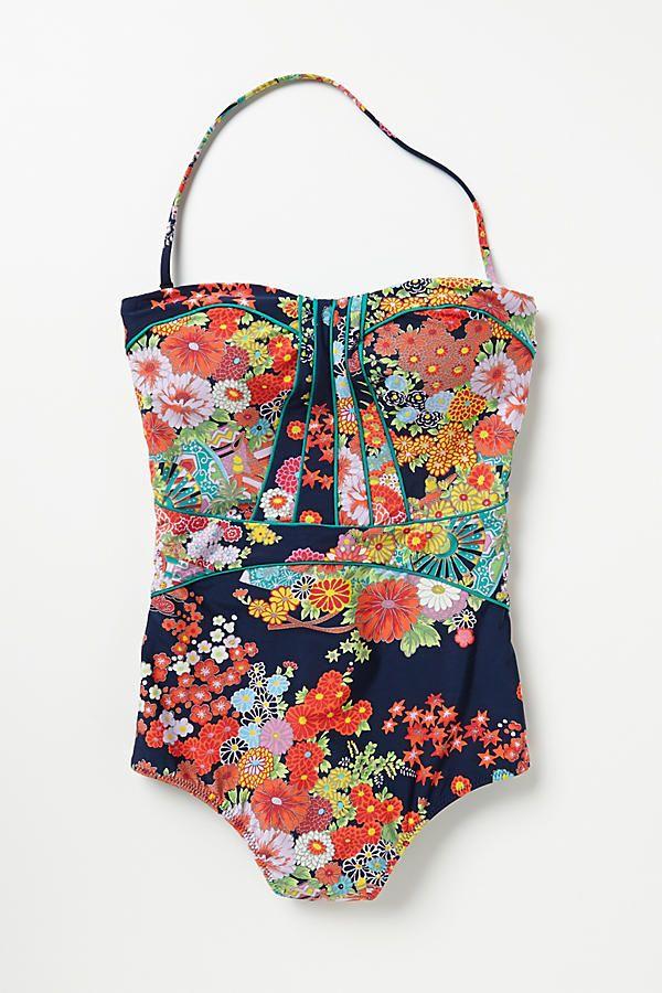 Shop the Nanette Lepore Kimono Floral Seductress One Piece and more Anthropologi...