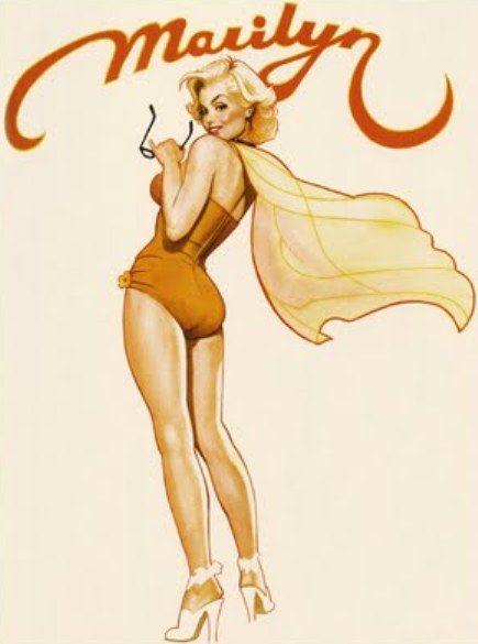 so cute. Marilyn Monroe by Jim Silke