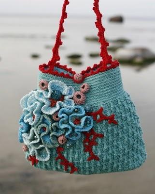 wonderful crochet bag - seashore motifs!
