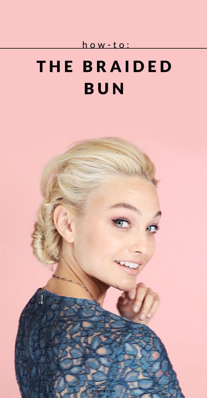 6 steps to a cool-girl braided bun