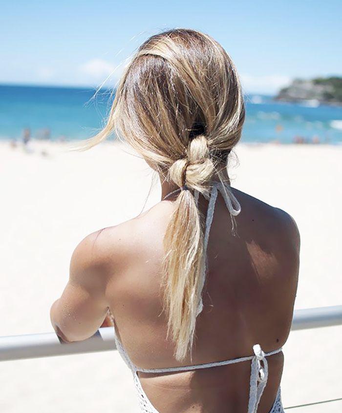 Beachy ponytail