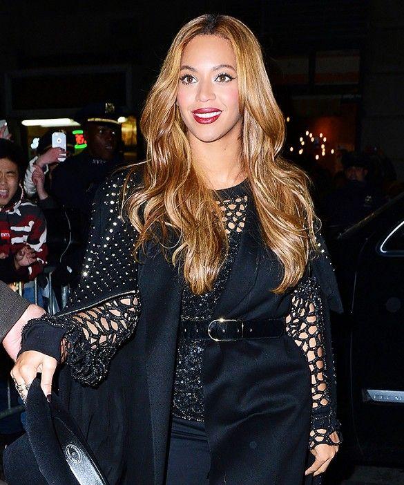 Beyonce's honey-golden hair