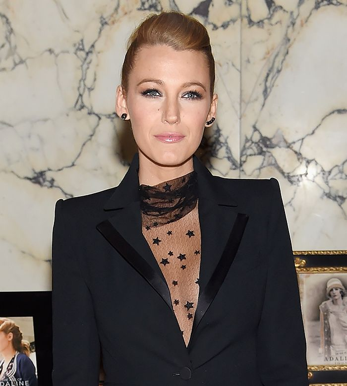 Blake Lively with just a subtle swoop of volume at the crown