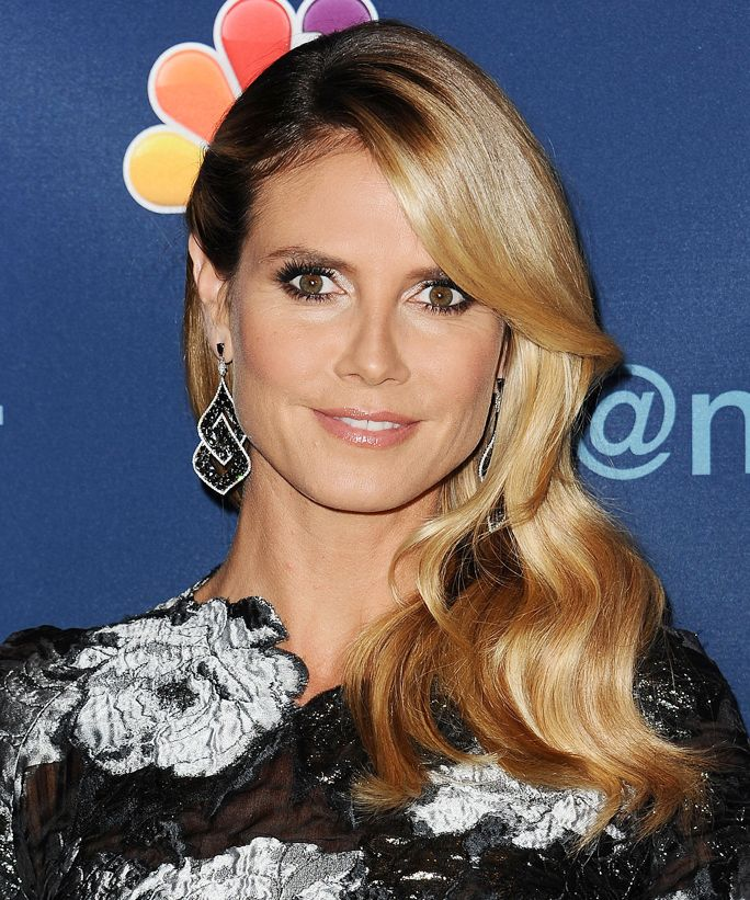 Can't get enough of Heidi Klum's old Hollywood waves