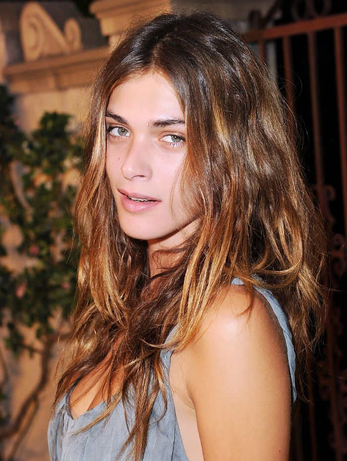 Elisa Sednaoui's tousled French-girl hair