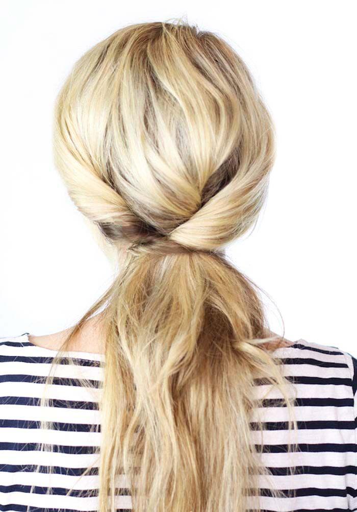 Flipped ponytail