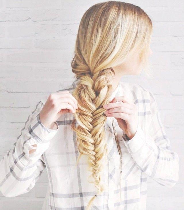Oversize fishtail braid