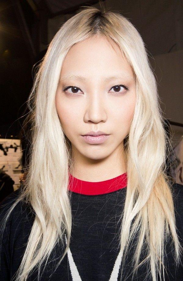 Soo Joo Park's platinum blonde hair is so gorgeous