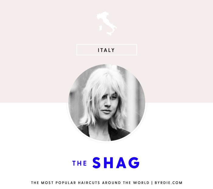 The most popular haircut in Italy: the shag