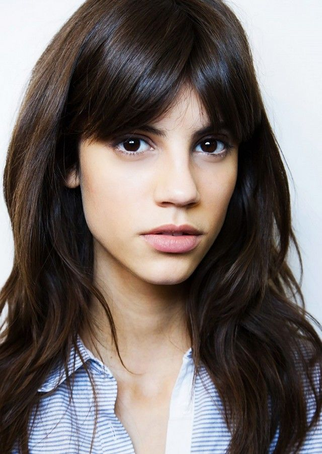 The perfect bangs for an oval shaped faced with a long forehead