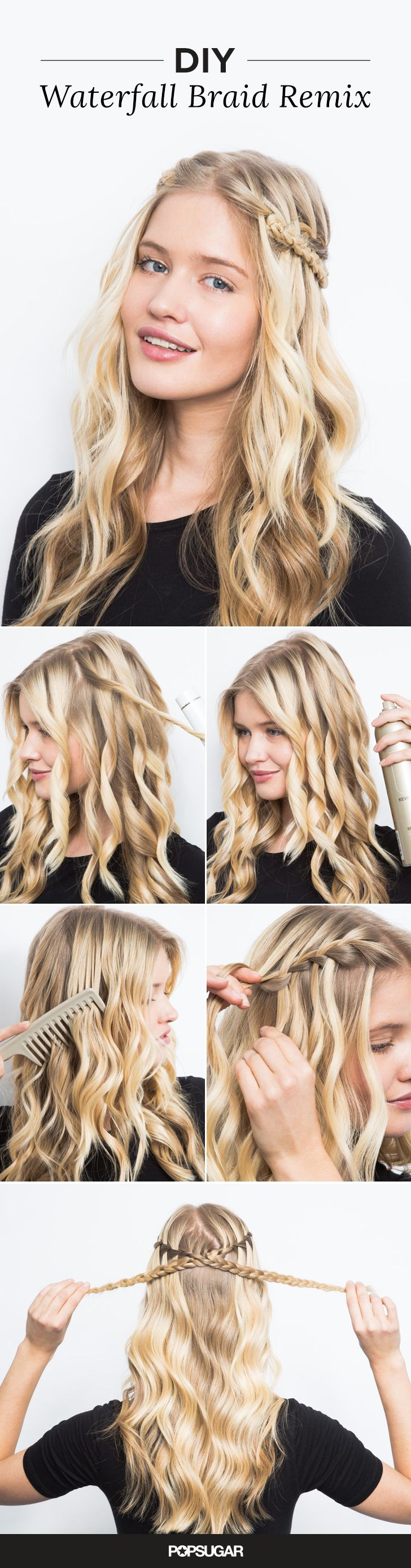 The waterfall braid looks way more complicated than it actually is // via POPSUG...