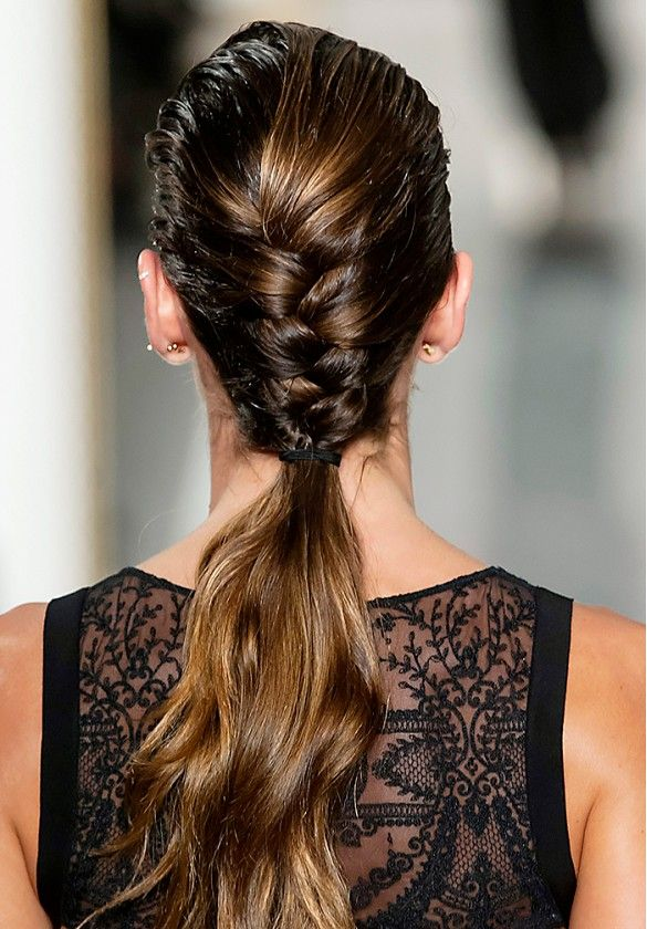 The wet-look braid