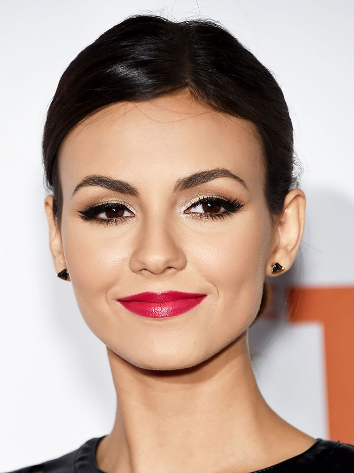 Victoria Justice's pulled-back updo