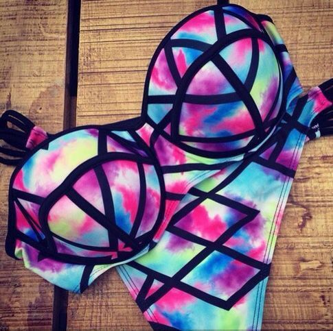 [ $19.00 ] 8461379 Sexy Fashion Print Beach Bikini swimwear Swimsuit Beach Fashi...