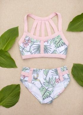 Coral Two Piece Swimsuit