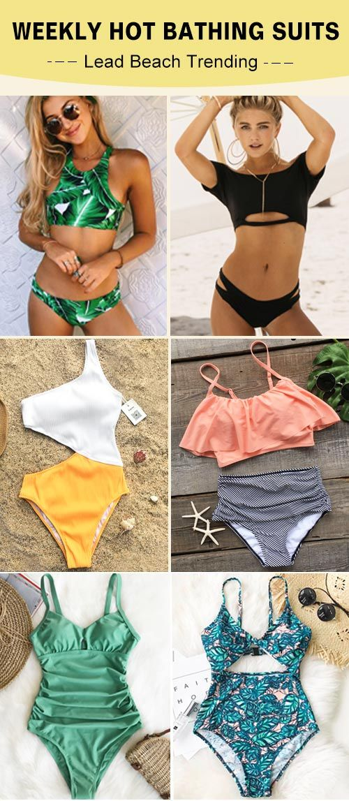 Hit the beach with in style swimsuits from Cupshe. Discover super-cute designs, ...