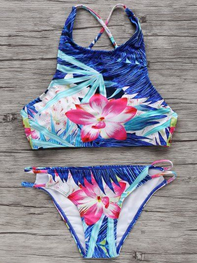 SHARE & Get it FREE | High-Neck Tropical Bikini SetFor Fashion Lovers only:80,00...