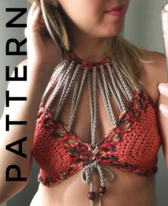Crochet Pattern The All Strung Out Bralette Pattern. ****** This listing is for ...