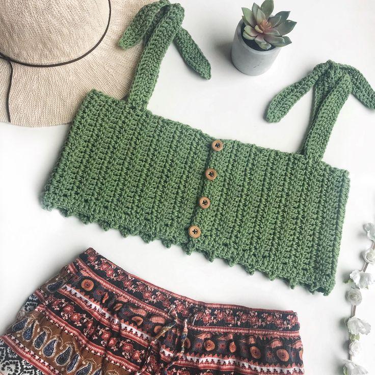 Festival top, boho top, crop top, crochet top, crochet crop top, bralette, croch...