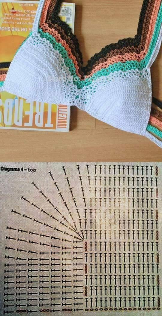 Lencería #crochet #patrón.
